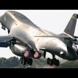 B-1 Bomber Light the Burners & Do a Double Roll Over MacDill Air Force Base